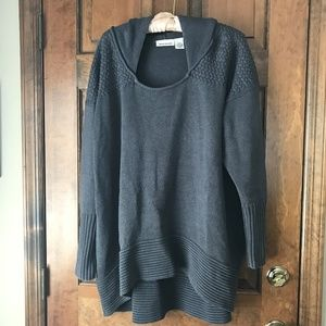 DKNY Jeans Gray Hooded Sweater Size 22/24